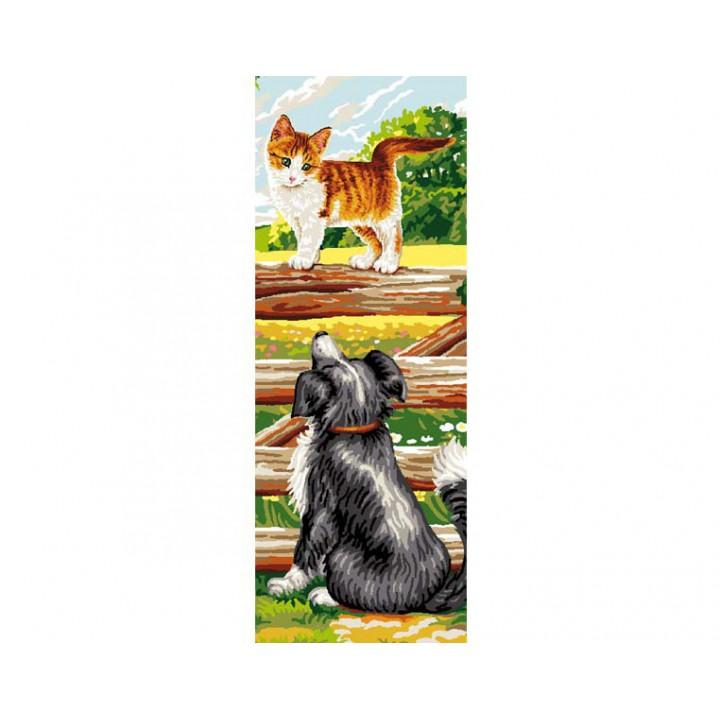 Canevas - Chat & chien