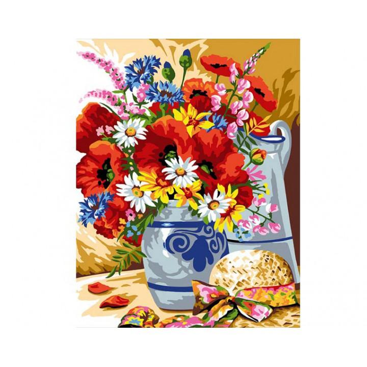 Canevas 50 x 65 - Bouquet champêtre