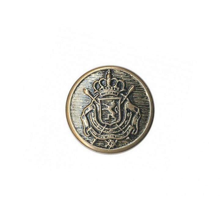 Bouton armoiries métal