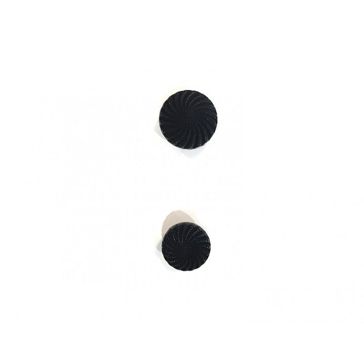 Bouton fantaisie noir 12 et 15 mm - meringue