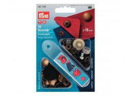 Boutons pression Anorak laiton antique 15 mm Prym