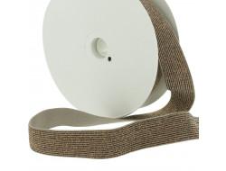 Élastique lurex - marron 20mm