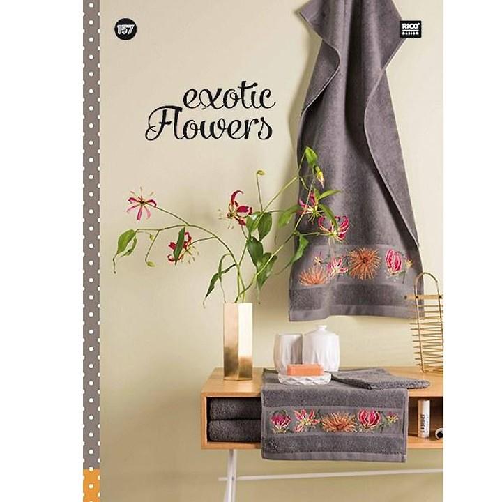 157 - Livre point de croix Exotic Flowers, RICO