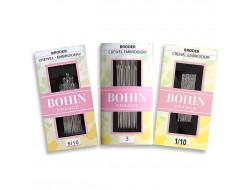 Aiguilles à broder du 3 au 10 - Chas long avec pointe Bohin