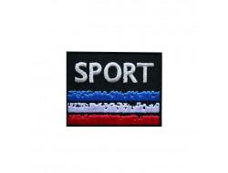 Ecusson thermocollant Sport, France, noir
