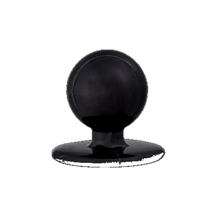 Bouton boule pour veste de cuisine noir 18 mm