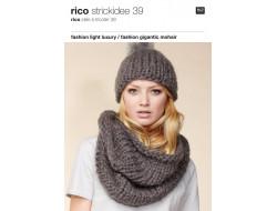 Idée à tricoter N°39 - Laine Gigantic Mohair