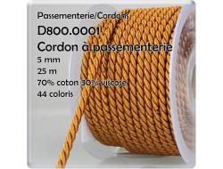Cordon torsadé 5 mm
