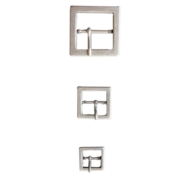 Boucle de ceinture métal argent de 10 à 30 mm