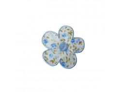 Ecusson thermocollant fleur liberty bleue