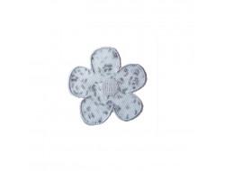 Ecusson thermocollant fleur liberty grise
