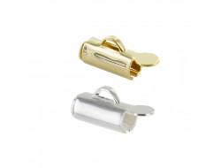 Embout de bracelet cylindrique - Or ou Argent