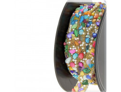 Galon thermocollant - pierres multicolores