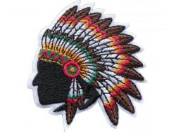 Ecusson thermocollant tête d'indien,iroquois