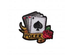 Ecusson thermocollant jeu de cartes Poker