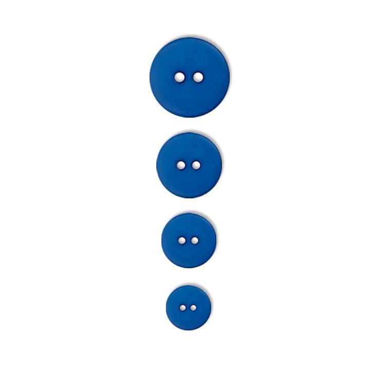 Bouton bleu classique   2 trous