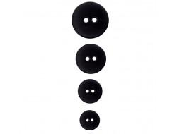 Bouton noir classique 2 trous
