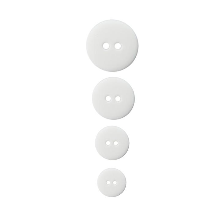 Bouton blanc classique 2 trous