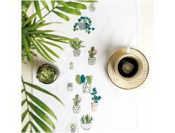 Kit de broderie - Chemin de table Cactus