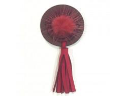 Décoration pompon rouge - A coudre