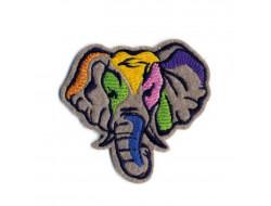 Écusson thermocollant Animaux peints - Éléphant