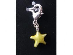 Pendentif étoile jaune