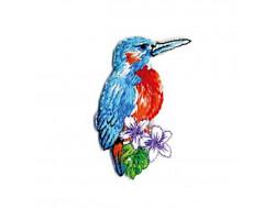Écusson thermocollant oiseaux tropicaux - Colibris