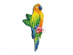 Écusson thermocollant oiseaux tropicaux - Perroquet Aras