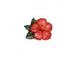 Écusson thermocollant - La vie en fleur rouge