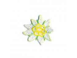 Écusson thermocollant - La vie en fleur blanche