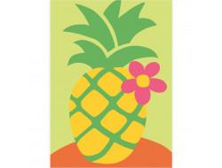 kit canevas gros trous - L'ananas