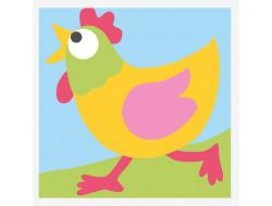 kit canevas gros trous - La poule