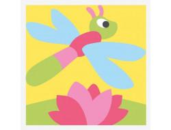 kit canevas gros trous - La libellule