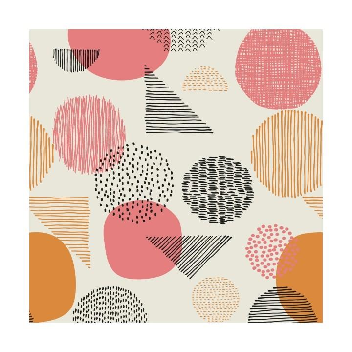 Tissu imprimé Katia - Gold Geometric Canvas
