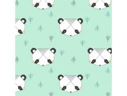 Tissu imprimé Katia - Origami Panda