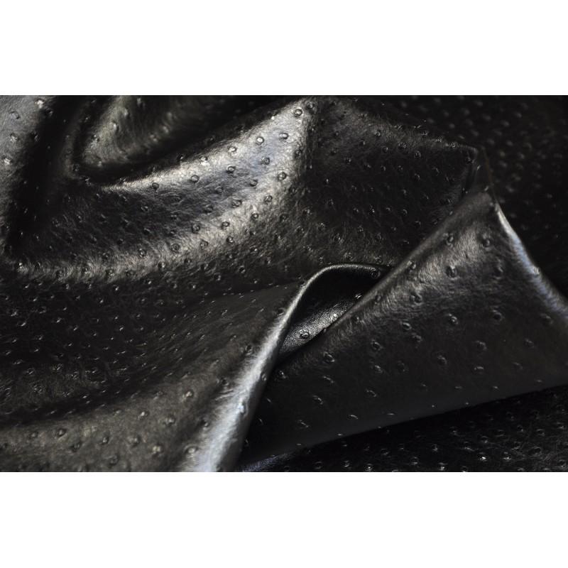 tissu simili cuir autruche noir mercerie floriane. Black Bedroom Furniture Sets. Home Design Ideas