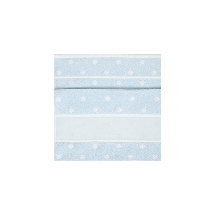 drap de douche broder bleu pois rico mercerie floriane. Black Bedroom Furniture Sets. Home Design Ideas