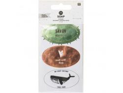 Kit autocollants pour savon, Hygge - 4 feuilles