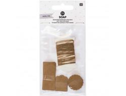 Étiquettes cadeaux pour savon, papier kraft