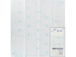 Coupon tissu à Sashiko - Feuille de chanvre et chrysanthème