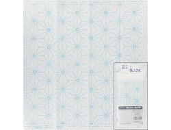 Coupon tissu Sashiko - Feuille de chanvre