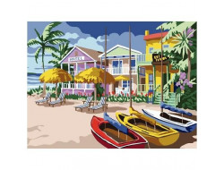 Kit canevas village tropical