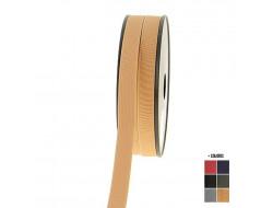 Élastique cotelet coloré - 15 mm
