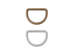 Demi anneaux bronze ou nickel - Plusieurs tailles