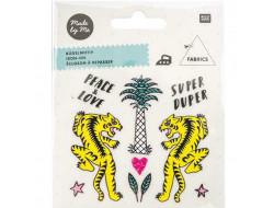 écusson à repasser - Tigre, palmier