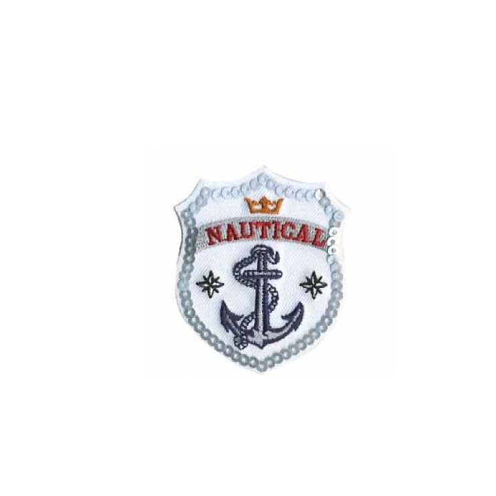 Écusson thermocollant - Nautical blanc