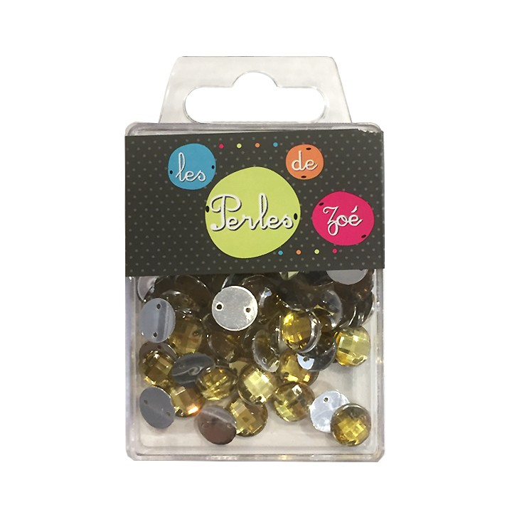 Perles rondes strass - Or