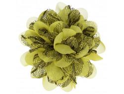 Broche Fleur - Mousseline Jaune