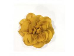 Fleur Georgette en broche - Moutarde