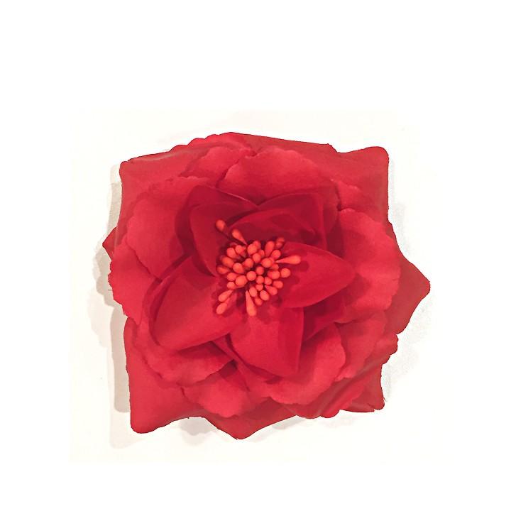 Fleur en broche - Rouge